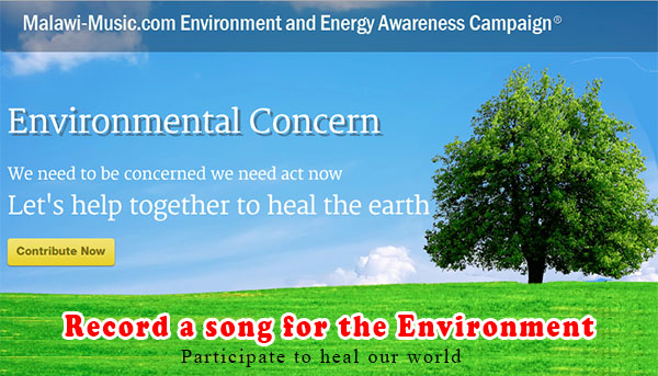 Join Malawi-Music.com in the most important causes thus far, The environment.